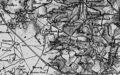 Old map of Traboe in 1895