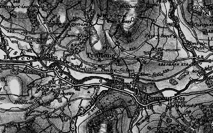 Old map of Abercamlais in 1898