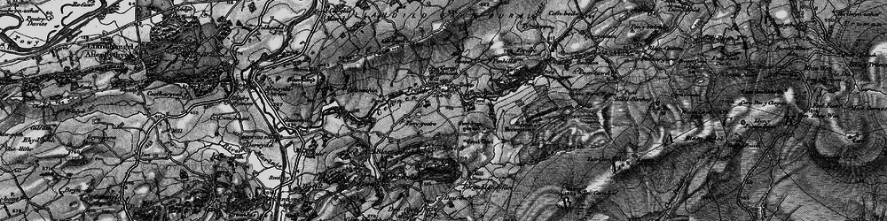 Old map of Afon Cennen in 1898