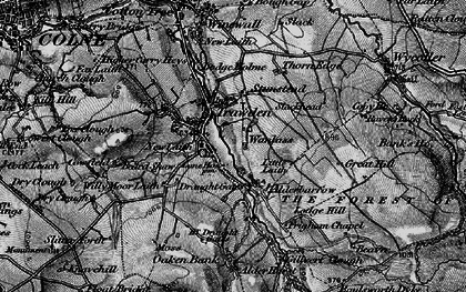 Old map of Trawden in 1898