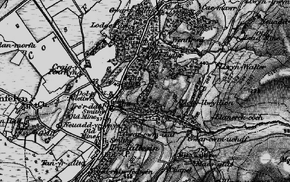 Old map of Afon Cetwr in 1899