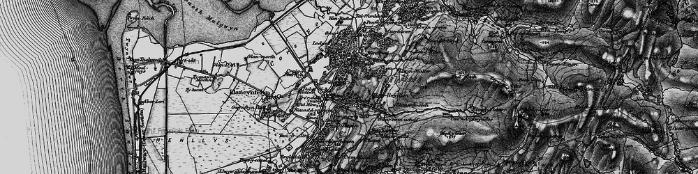 Old map of Ynystudor in 1899