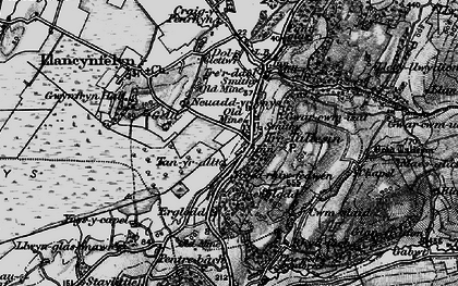 Old map of Tre Taliesin in 1899