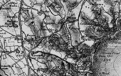 Old map of Treal in 1895