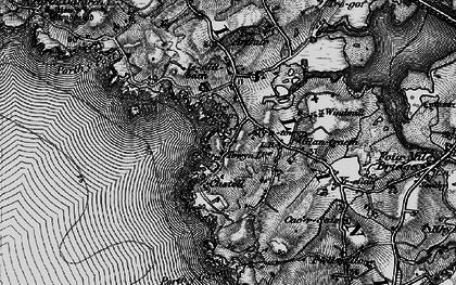 Old map of Bagnol in 1899
