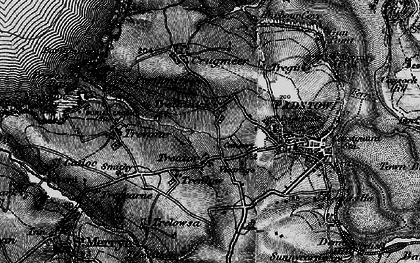 Old map of Treator in 1895