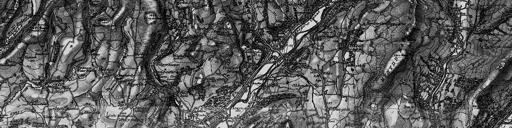 Old map of Trebanos in 1898