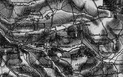 Old map of Trebarber in 1895
