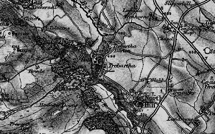 Old map of Trebartha in 1895