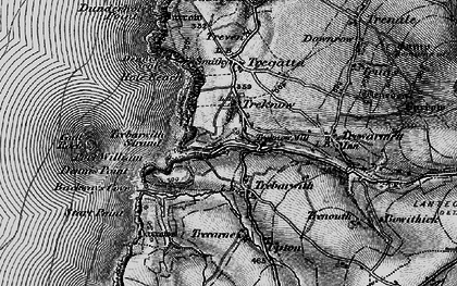 Old map of Trebarwith in 1895