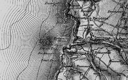 Old map of Backways Cove in 1895