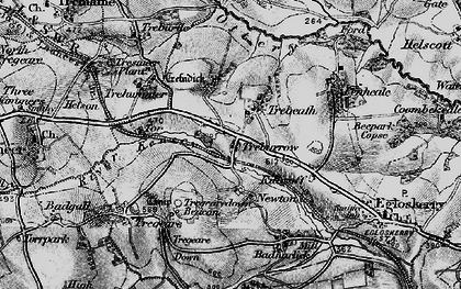 Old map of Trebeath in 1895