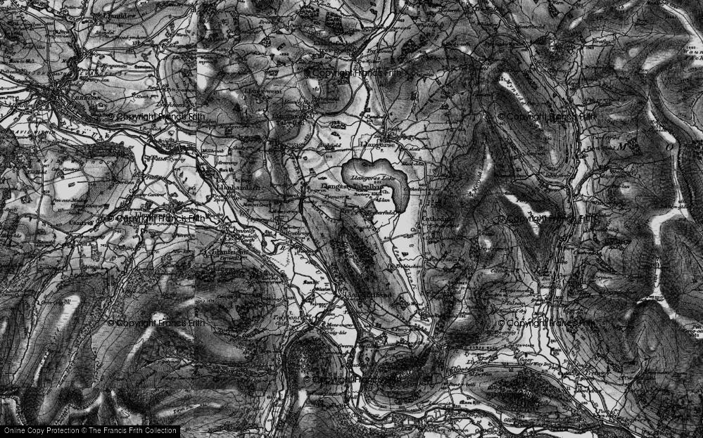Old Map of Historic Map covering Allt y Esgair in 1897