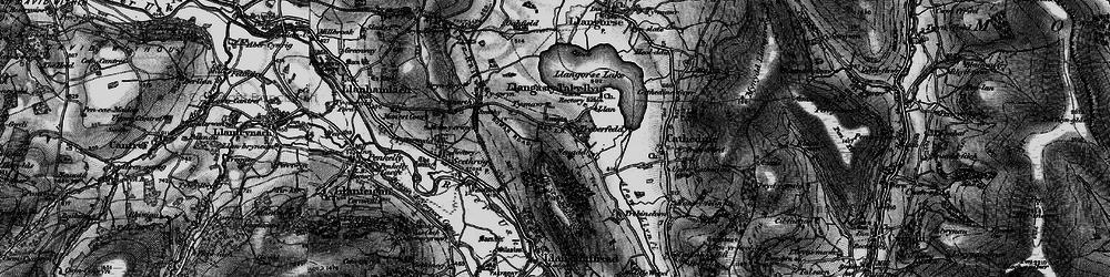 Old map of Allt y Esgair in 1897