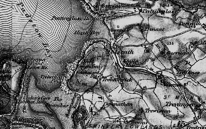 Old map of Trebetherick in 1895