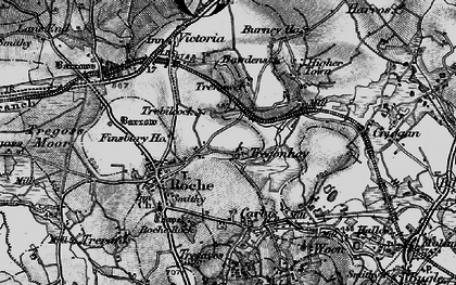 Old map of Trebilcock in 1895