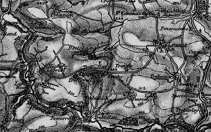 Old map of Trebullett in 1896