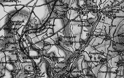 Old map of Treburgett in 1895