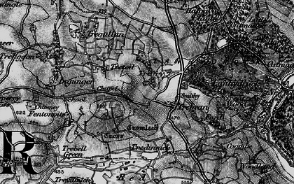 Old map of Trebyan in 1895