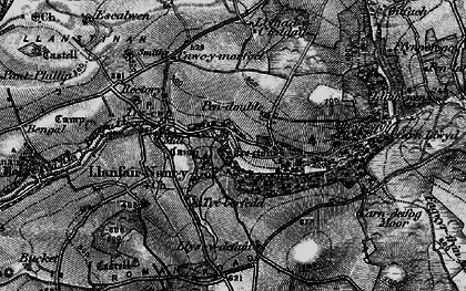 Old map of Allt yr Yn in 1898