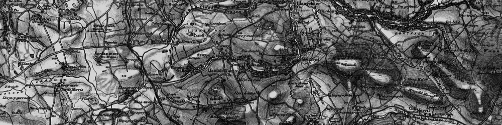 Old map of Ysgubor Mountain in 1898
