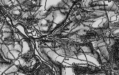 Old map of Tredannick in 1895
