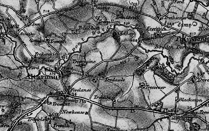 Old map of Tredaule in 1895