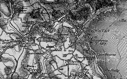Old map of Tredavoe in 1895