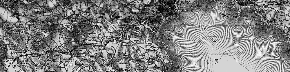 Old map of Tolcarne in 1895