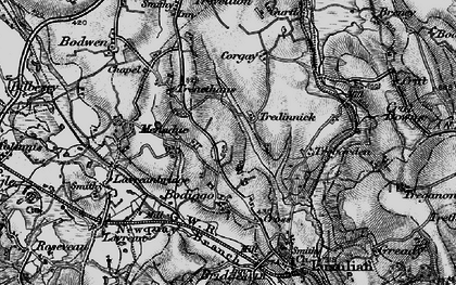 Old map of Tredinnick in 1895