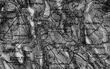 Old map of Tredinnick in 1896