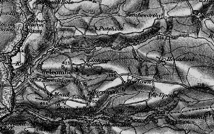 Old map of Linton in 1896