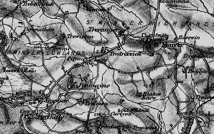 Old map of Tredrizzick in 1895