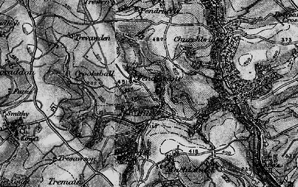 Old map of Trefanny Hill in 1896