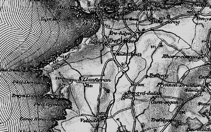 Old map of Ynys Melyn in 1898