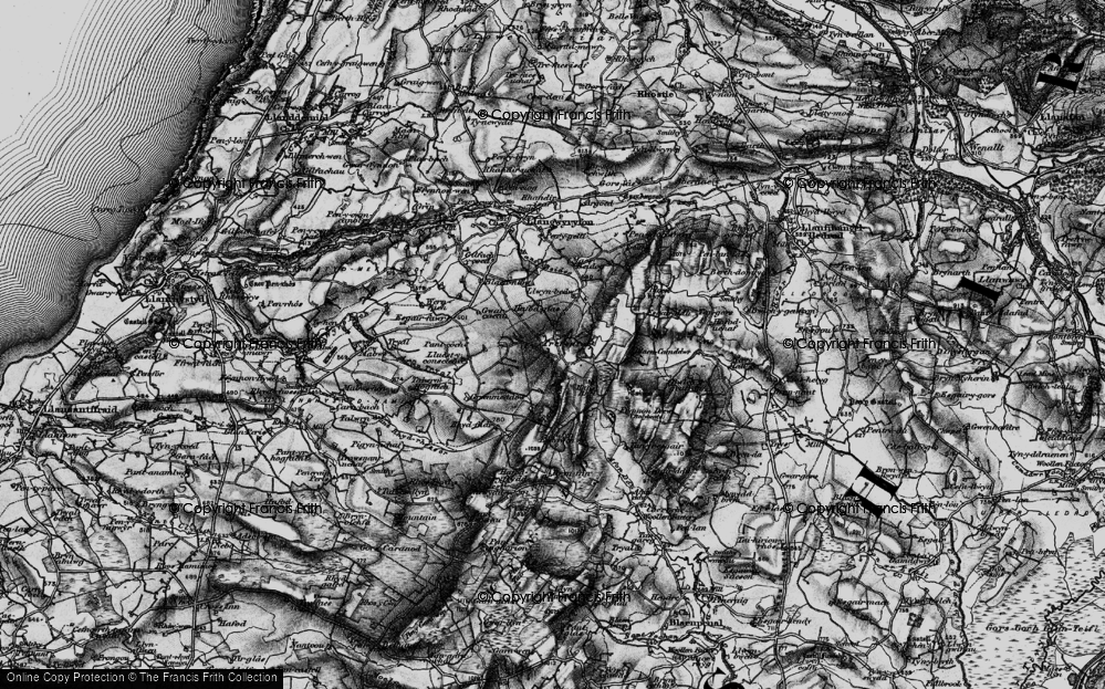 Old Map of Historic Map covering Bancllyn in 1898