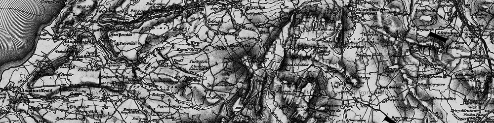 Old map of Afon Tryal in 1898