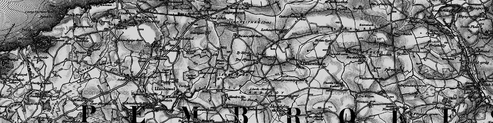 Old map of Abernant in 1898