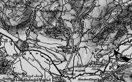 Old map of Afon Aeron in 1898