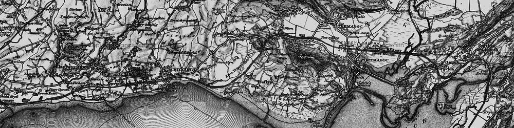 Old map of Treflys in 1899