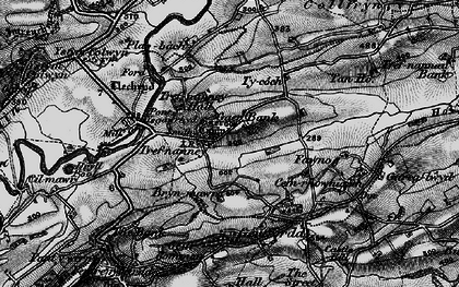 Old map of Y Gaer in 1897