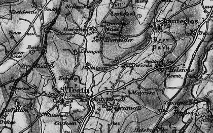 Old map of Treforda in 1895