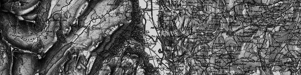 Old map of Trefriw in 1899