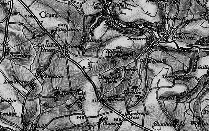 Old map of Trefrize in 1895