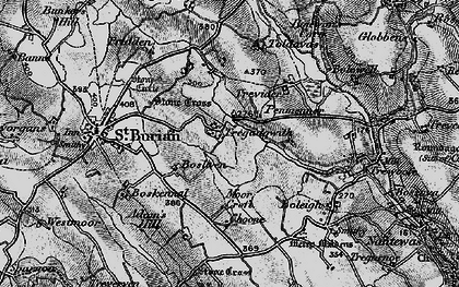 Old map of Tregadgwith in 1895