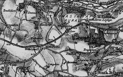 Old map of Tregadillett in 1895