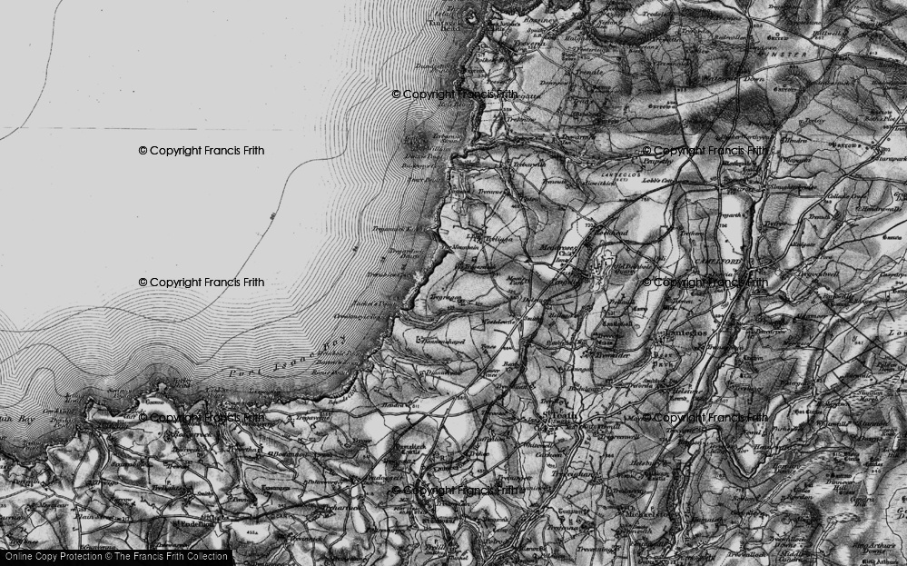 Old Map of Tregardock, 1895 in 1895