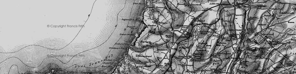Old map of Tregardock in 1895