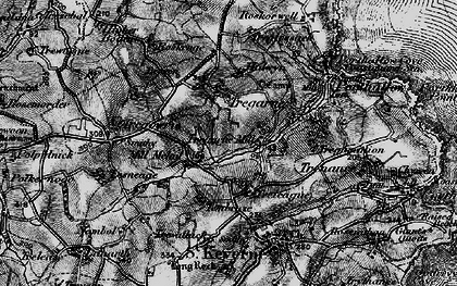 Old map of Lesneague in 1895