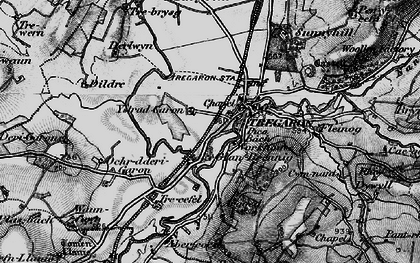 Old map of Banc Tan-yr-allt in 1898